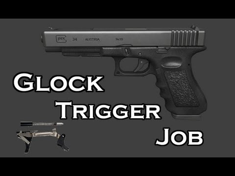 GLOCK MODS! 25 CENT TRIGGER JOB - GLOCK 34 [HD]