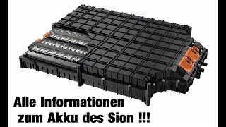 Offizielle Informationen zur Batterie - Sono Motors Update