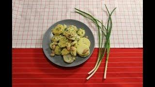 Рецепт теплого салата с картофелем. Kartoffelsalat.