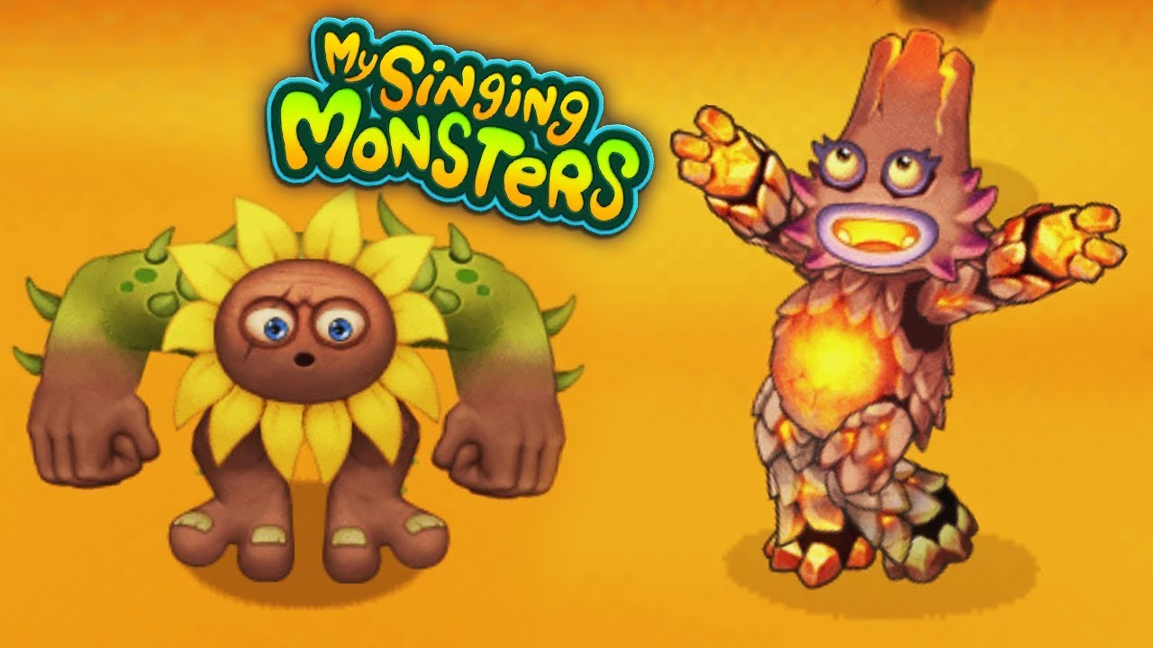 ПЕРВЫЕ МОНСТРЫ на острове ОГНЕННОЕ УБЕЖИЩЕ в игре Мои Поющие Монстры | My Singing Monsters