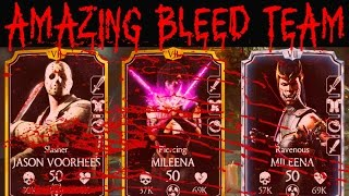 Mortal Kombat X Mobile. MILEENAS BLEED TEAM in FACTION WARS. UNBELIEVABLE! (MKX Mobile IOS/Android)