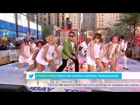"HD Live ""PSY - Gangnam Style"" (�����) on NBC's Today Show Sep. 14th 2012"