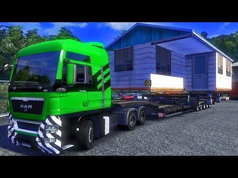 Transportando uma Casa — Euro Truck Simulator 2