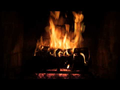 The Best Fireplace Video - 10 hour crackling logs, rain and jazz
