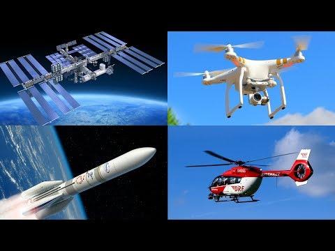 Изучаем воздушный транспорт и летательные аппараты для детей