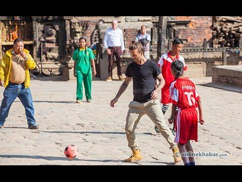 David Beckham enjoying football in Nepal