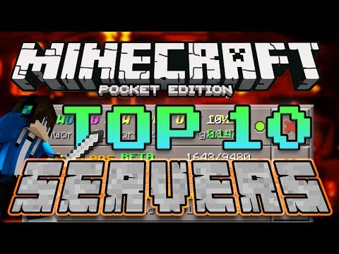 TOP 10 BEST SERVERS for Minecraft Pocket Edition 1.0.1