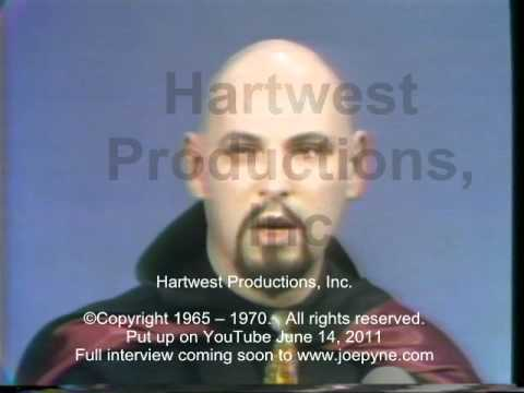 Anton S Lavey, The Church Of Satan, Another Clip: 1967 Joe Pyne Tv Show video