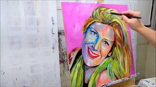 Pintando un Retrato con Acrilicos / Facil / Art Pop / Carolina