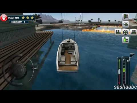 3D boat parking simulator game rewiew android//