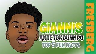 Giannis Antetokounmpo Fun Facts for Kids | Educational Videos for Students | NBA Milwaukee Bucks