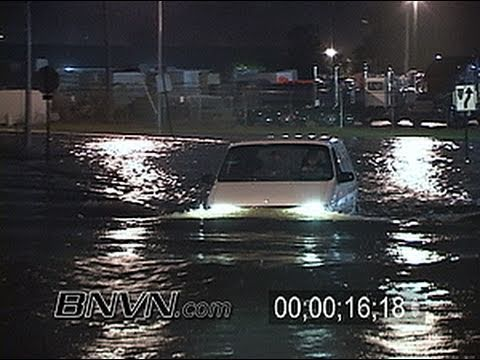 10/5/2005 Massive flooding with cars driving through the flood waters