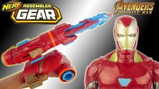 Nerf Assembler Gear Avengers Infinity War Blaster Iron Man Jouet Toy Review Unboxing Kids Hasbro