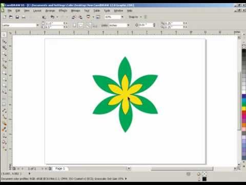 How to make a flower in corel draw X3/X5