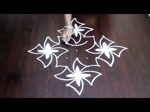 Chukkala Muggulu Quick And Simple With 11 x 1 || Small Kolam Design || Fashion World