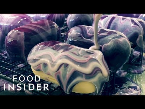 Cakes Painted In Mirror Glaze Are Works Of Art