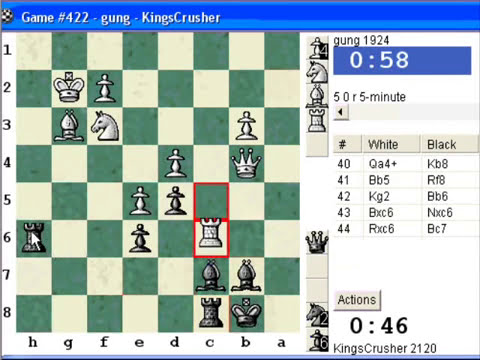 Chessworld.net : Blitz #220 vs. gung (1924) - French Defense : King's Indian attack (C00)