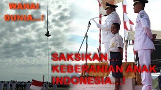 * VIRAL * TOUCHING..! Heroic Action of NTT Children Climbing Flag Pole for the Red and White..!