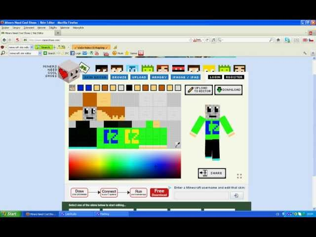Minecraft skin editor tutorial