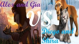 Alex and Gia VS Diego and Shira