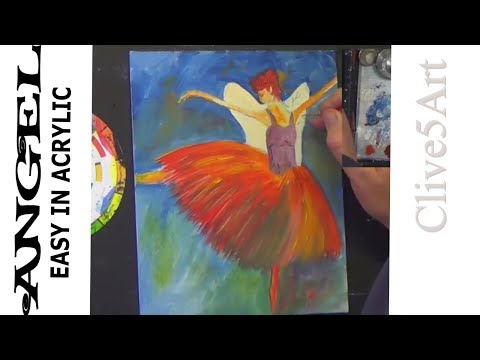 ANGEL Acrylic Painting Easy Step by Step Beginner #clive5art