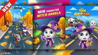 Talking Tom Gold Run ✔️ New Character WITCH ANGELA Unlocked | Cartoons For Kids
