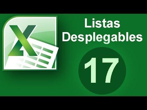 Tutorial Excel (Cap. 17) Listas Desplegables
