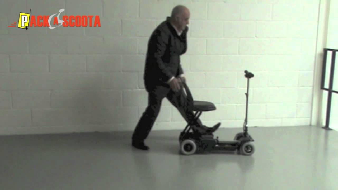 Packascoota Uks Smallest Portable Mobility Scooter Youtube