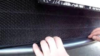 Видео: Установка защиты радиатора Nissan Note черная