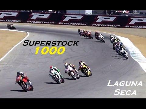 MotoAmerica Superstock 1000 Motorcycle Racing @ Laguna Seca - 2016 Race 1