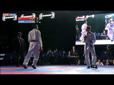 Alekhin Evgenii (RUS) - Aly Mohamed (EGY) FINAL GOLD MEDAL FIGHT Karate1 Premier League, Tyumen 2013