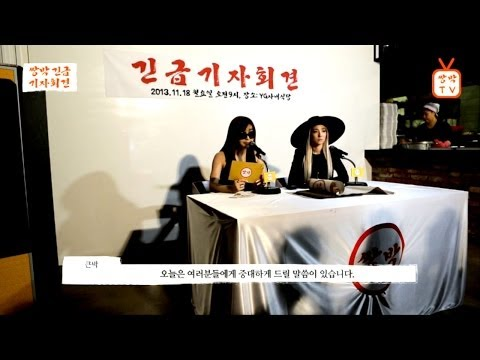 2ne1 - Double Park 'urgent Press Conference' video