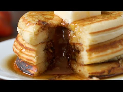 Fluffy Chocolate Lava Pancakes