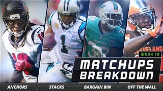 Top Fantasy Football Studs, Stacks and More for Week 13 on DraftKings | Matchups Breakdown