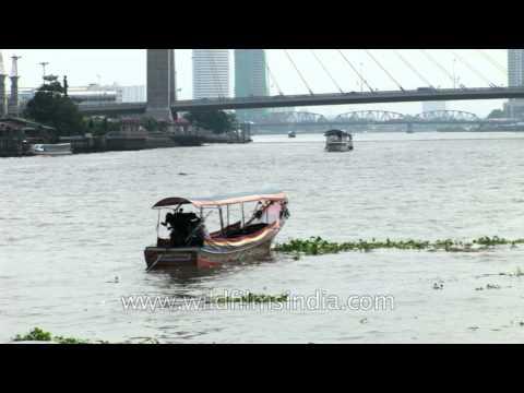 Boat ride in Chao Praya River, Bangkok, Thailand