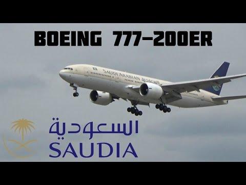Saudi Arabian Airlines Boeing 777-200ER Landing RWY 24L @ Toronto Pearson Int'l May 16, 2015