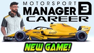 NEW F1 GAME! Motorsport Manager Mobile 3 Career Mode Gameplay!