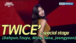 TWICE's special stage - 4 minutes (Original : Madonna)  [SUB: ENG/CHN/2017 KBS Song Festival(가요대축제)]
