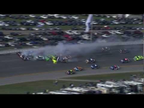 Серьезная авария на гонках NASCAR 25 машин