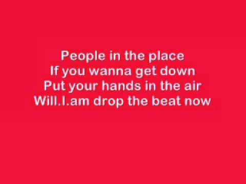 Boom Boom Pow Lyrics video