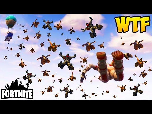 100 PLAYERS JUMP AT THE SAME TIME! - Fortnite Funny Fails and WTF Moments! #129 (Daily Moments)