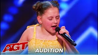 "Annie Jones: Shy 12-Year-Old Aussie Girl SLAYS ""Dance Monkey"" On @America's Got Talent"