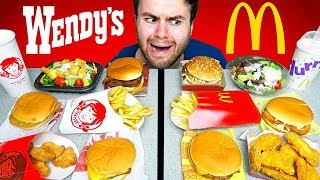 WENDY'S vs. McDONALD'S! The Whole Menu! - Fast Food Taste Test