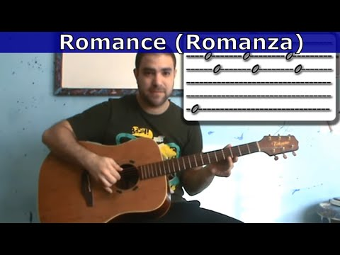 0 Guitar Tutorial: Romance / Romanza   w/ tab