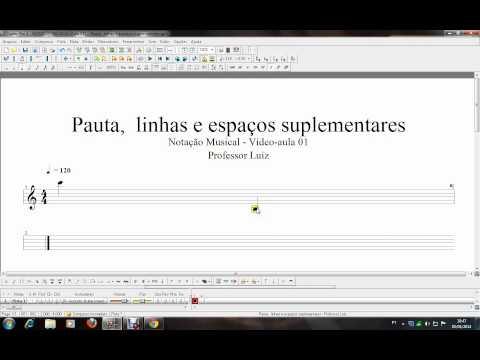 CursandoMúsica: Notação Musical - Aula 01 - Prof.: Luiz