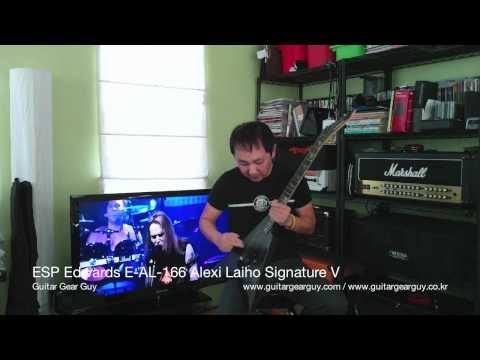 ESP Edwards E-AL-166 Alexi Laiho signature V guitar chat review