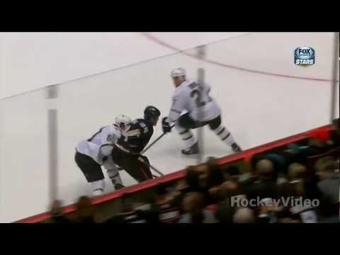 Aaron Rome huge hit on Daniel Winnik . Apr 3, 2013