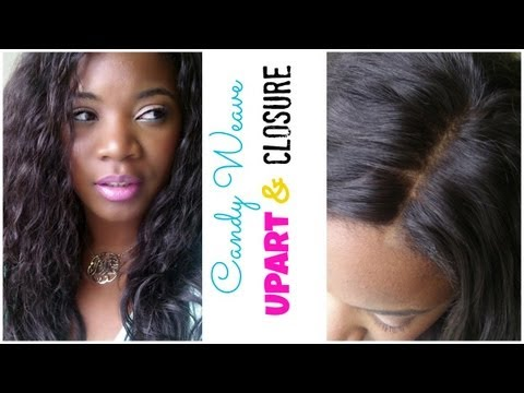Candy Weave Install Upart with lace closure/ Glueless Wig Cap Method