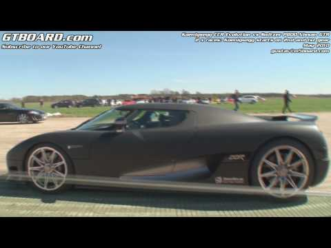 1080p:Switzer P800 Nissan GTR vs Koenigsegg CCR x 2 Races Music Videos