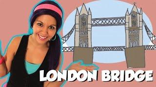 London Bridge is Falling Down with Lyrics - Nursery Rhymes on Tea Time with Tayla